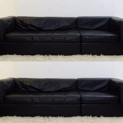 Algarve Leather Sofa And Loveseat Set Macy S Chloe Sale Vintage Black Sofas Of 2 For At Pamono