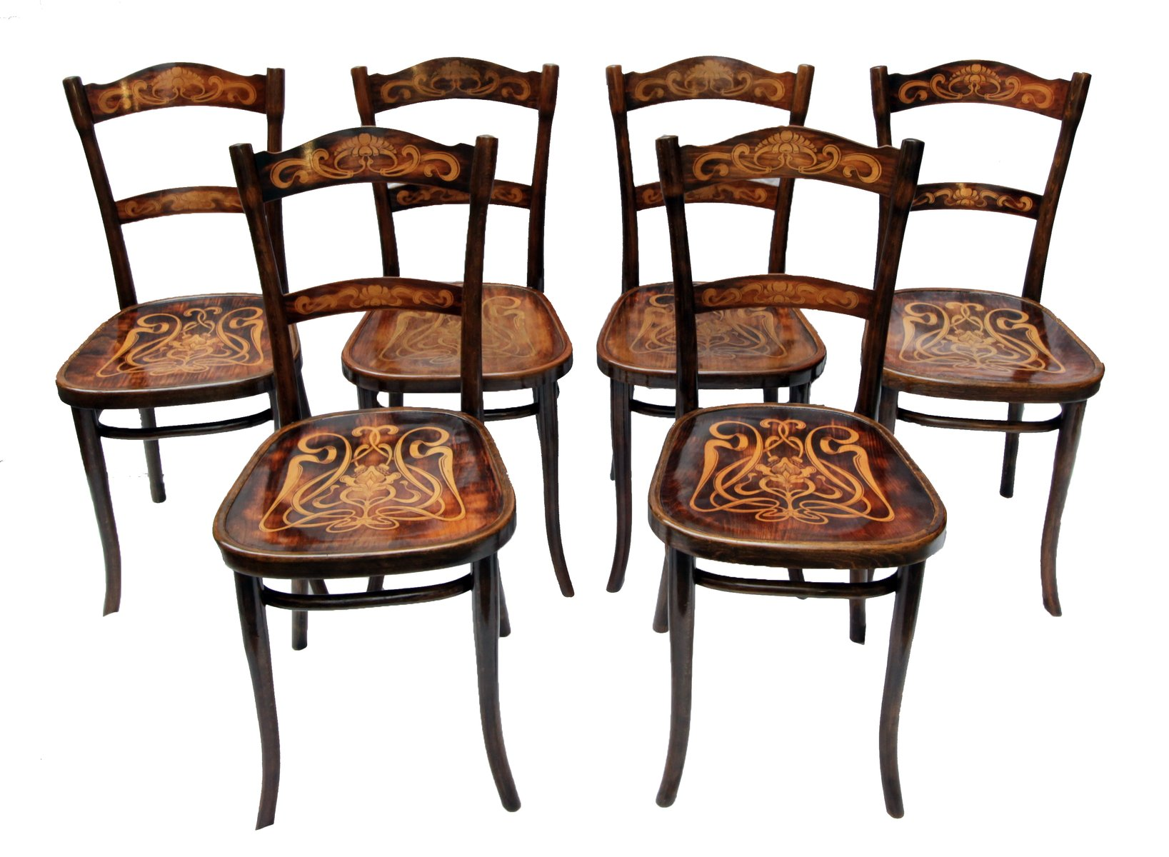 bentwood dining chair 10 table set antique decorated chairs from thonet of 6 for price per