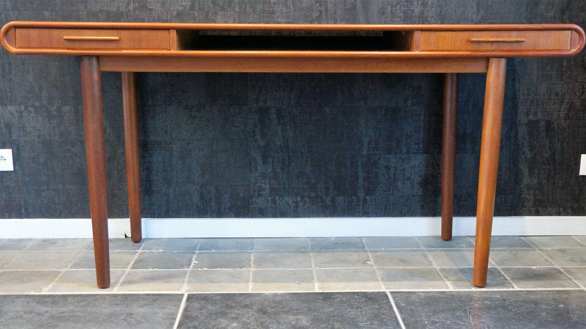 teak sofa table 2 cuddler vintage scandinavian console for sale at pamono