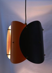 Black & Orange Ceiling Lamp, 1950s for sale at Pamono