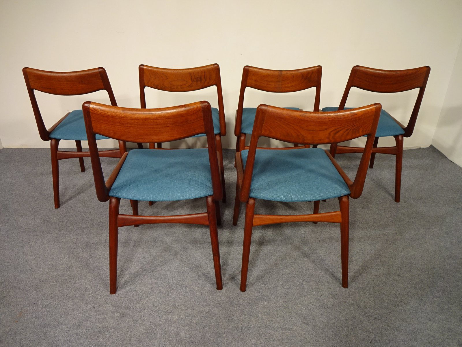 Vintage Boomerang Dining Chairs by Alfred Christensen for