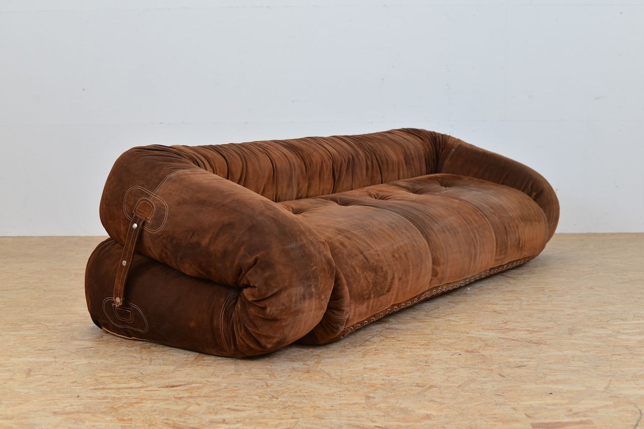 anfibio leather sofa bed modern table ideas vintage by alessandro becchi for