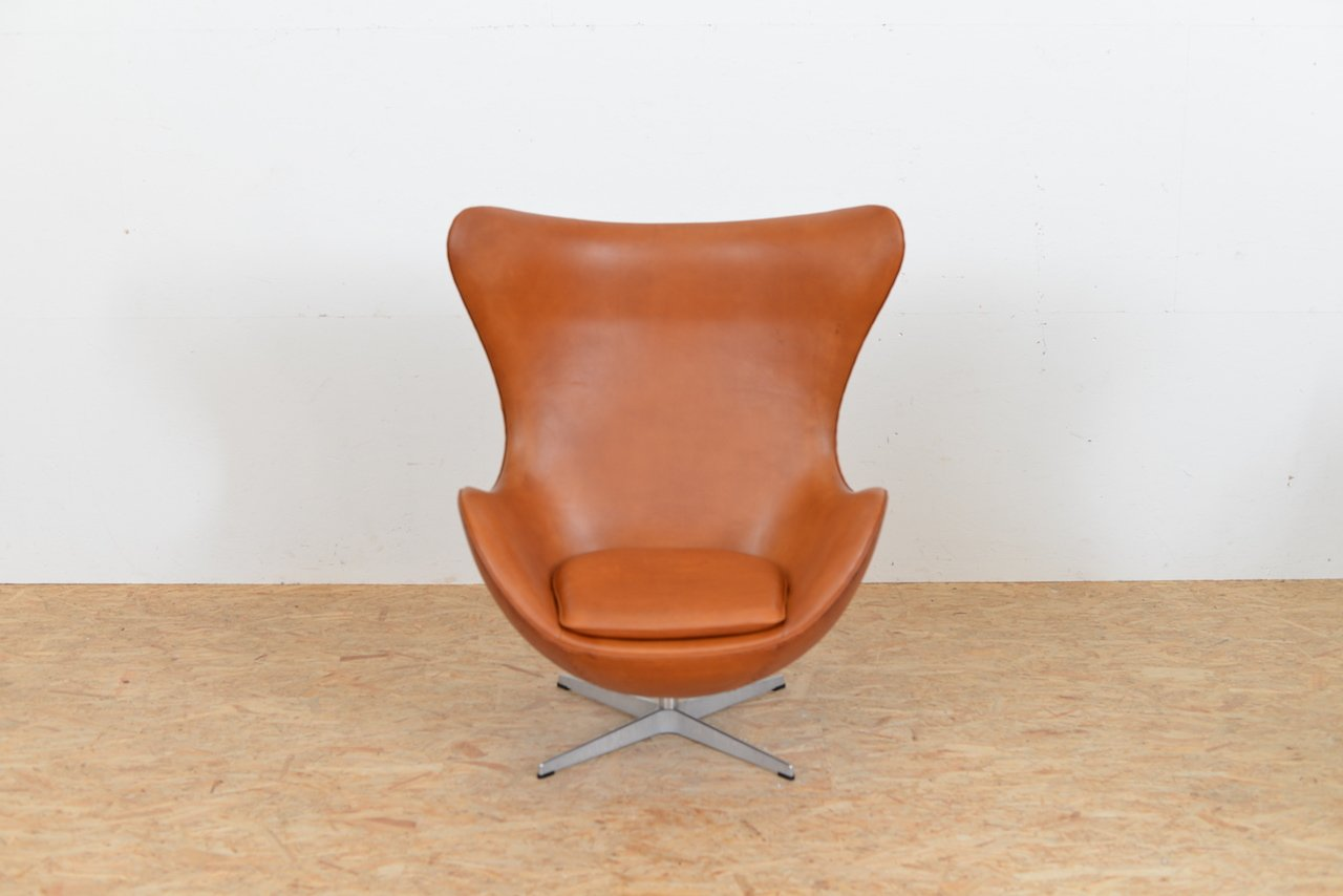 Egg Chair Prices Mid Century Leather Egg Chair By Arne Jacobsen For Fritz