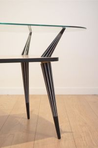 Mid-Century Italian Black & White Wooden Coffee Table for ...