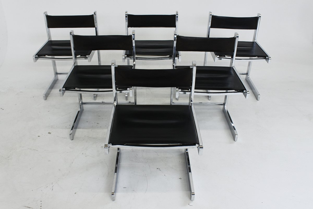 chrome dining chairs australia ikea chair covers amazon mid century modern set of 6 for sale