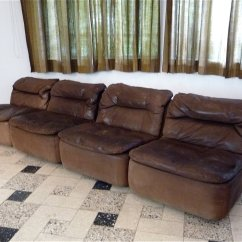 Leather Corner Sofa Spain Kenton Sleeper Curved Sectional By Friedrich Hill For