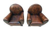 Vintage Leather Club Living Room Set, Set of 3 for sale at ...