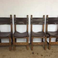 Leather Sling Chairs Desk Chair Mat For Carpet Oak And 1920s Set Of 4 Sale At Pamono