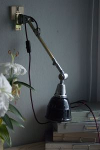 Vintage Reading Lamp with Enameled Reflector by Curt ...