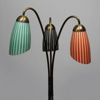 Tripod Brass Floor Lamp with Glass Shades, 1950s for sale ...