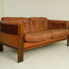 Sofa Rose Wood Memphis Danish Rosewood Leather 1960s For Sale At Pamono