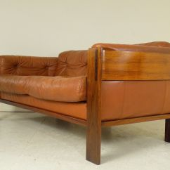 Sofa Rose Wood Wing Flexform Danish Rosewood Leather 1960s For Sale At Pamono