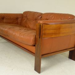 Sofa Rose Wood White Leather Reclining Danish Rosewood 1960s For Sale At Pamono