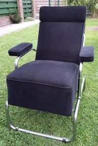 Vintage Reclining Lounge Chair with Ottoman for sale at Pamono