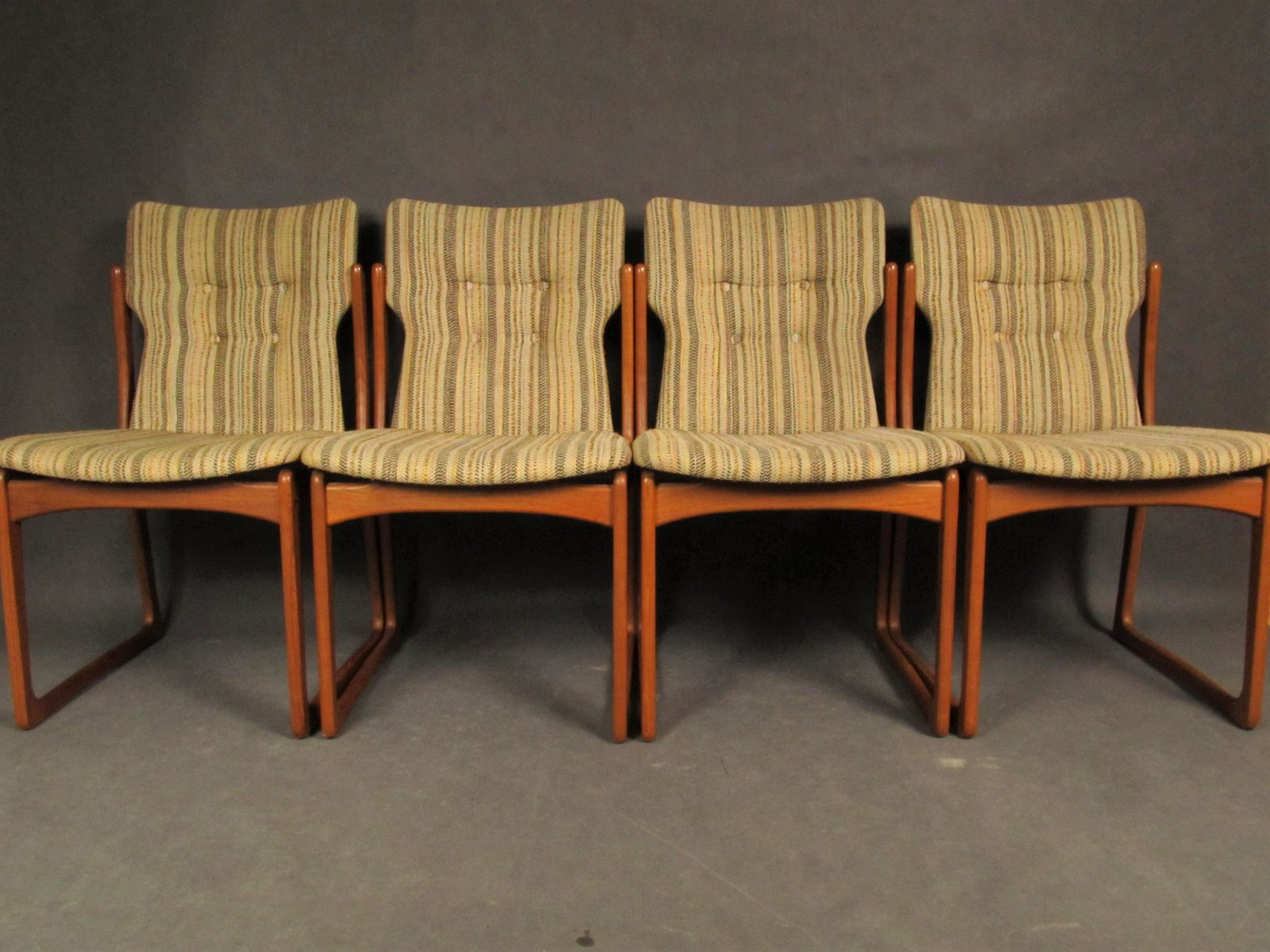 Dining Room Chairs Set Of 4 Mid Century Dining Room Chairs From Vamdrup Stolefabrik 1960s Set Of 4