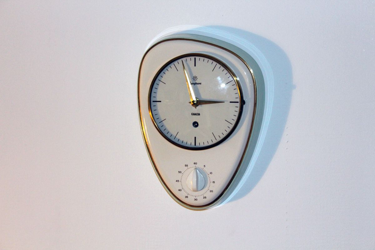 kitchen clocks for sale small white island mid century clock from junghans 1960s at