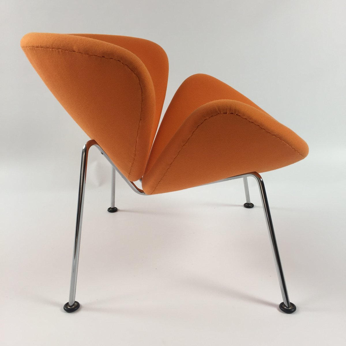 orange slice chair folding shower with back vintage lounge by pierre paulin for