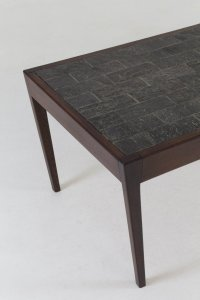 Dutch Mid-Century Modern Wenge Coffee Table with Slate Top ...