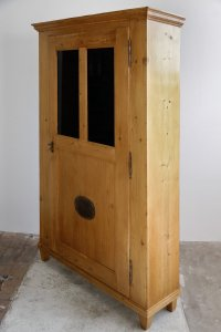 Antique Wooden Kitchen Storage Cabinet for sale at Pamono