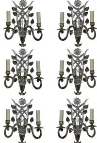 Mid-Century French Sconces, Set of 6 for sale at Pamono