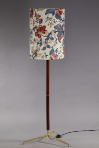Vintage Floral Italian Floor Lamp for sale at Pamono