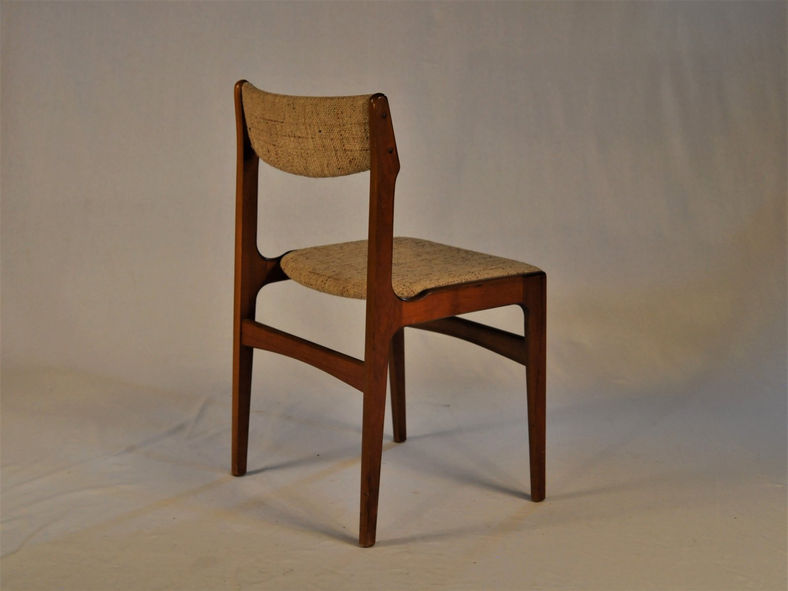 Dining Chairs Set Of 6 Teak And Fabric Dining Chairs By Erik Buch 1960s Set Of 6