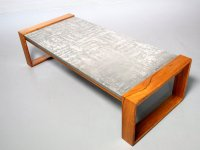 Brutalist Aluminum & Wood Coffee Table, 1970s for sale at ...