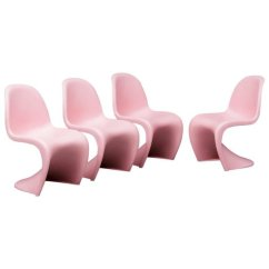 Panton S Chair Reclining Camping With Footrest Chairs By Verner For Vitra 1958 Set Of 4 Sale At Pamono Price Per