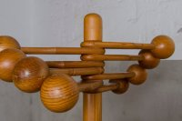 Danish Space Age Pine Coat Rack for sale at Pamono