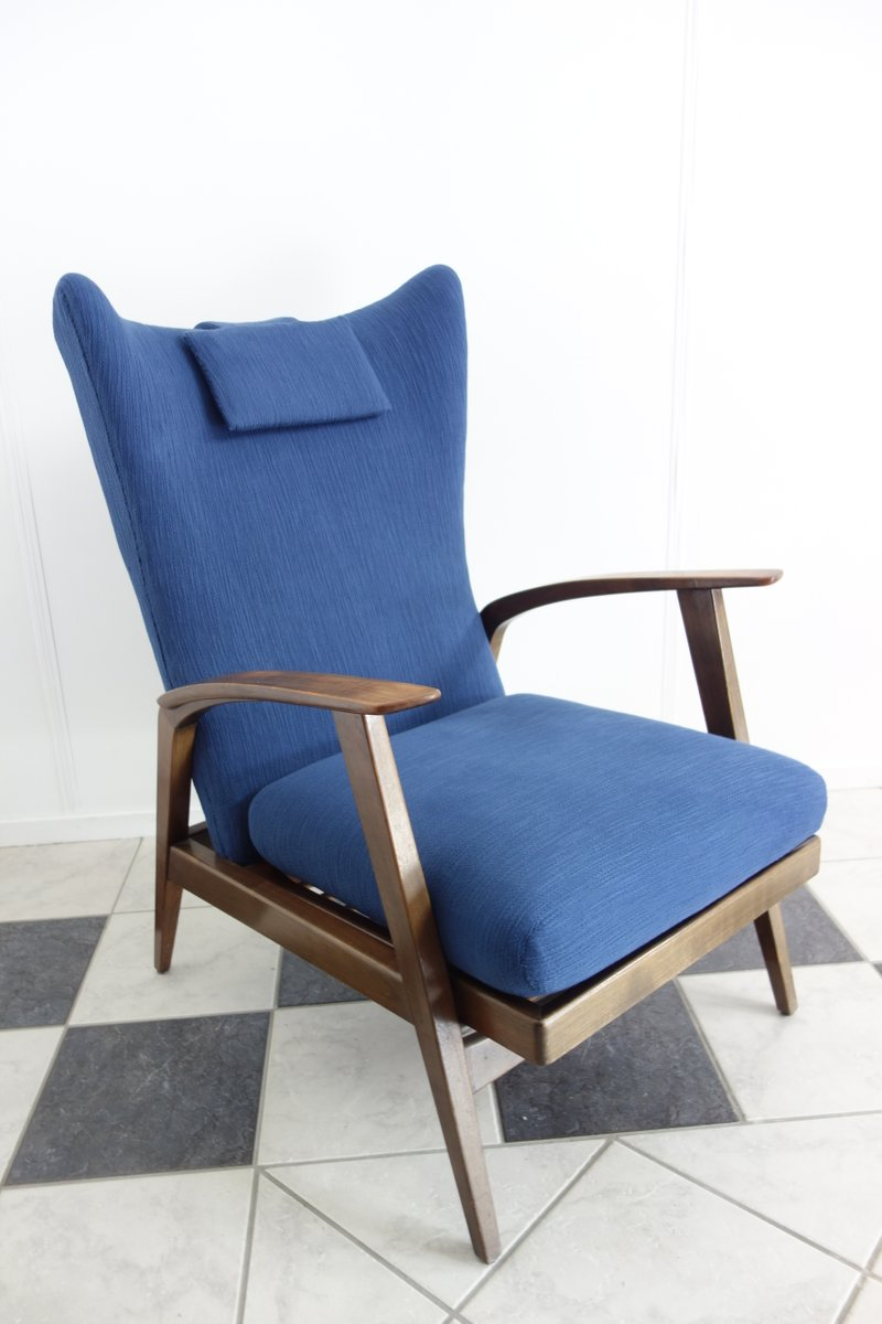 Teal Wingback Chair Reclining Wingback Chair From Knoll Antimott 1965