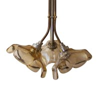 Vintage French Brass Ceiling Light for sale at Pamono