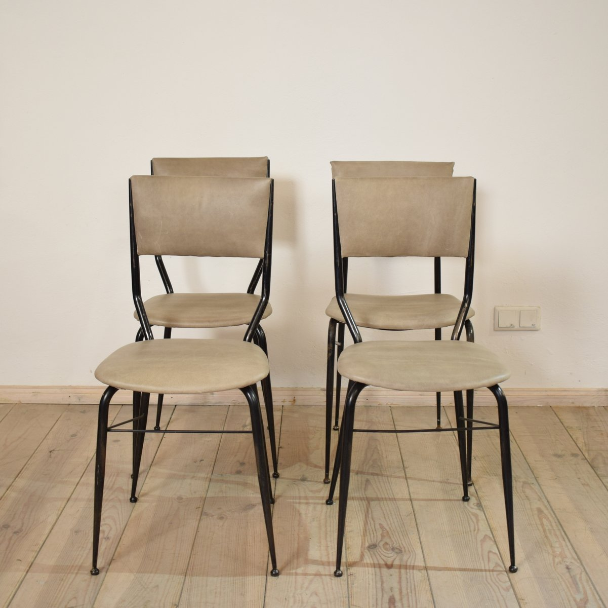 Italian Dining Chairs Mid Century Italian Dining Chairs Set Of 4