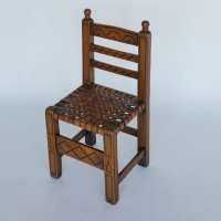 Spanish Chair with Woven Leather Seat, 1960s for sale at ...