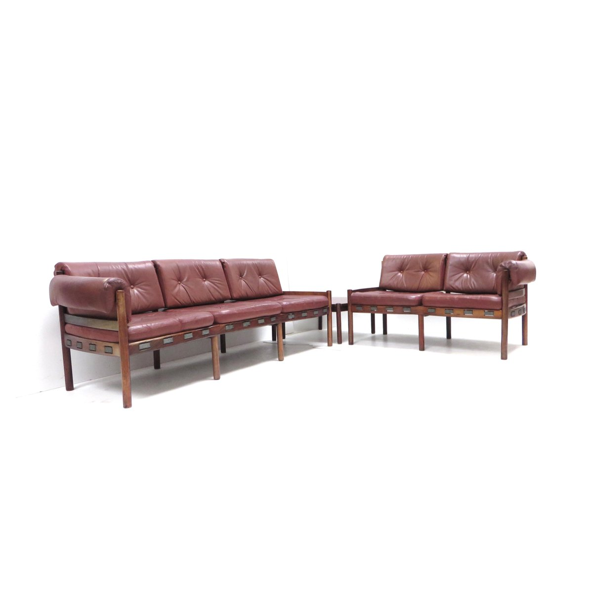 leather corner sofa spain chesterfield style velvet with table 1960s for sale at pamono