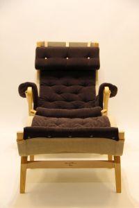 Swedish Pernilla Easy Chair & Ottoman by Bruno Mathsson ...