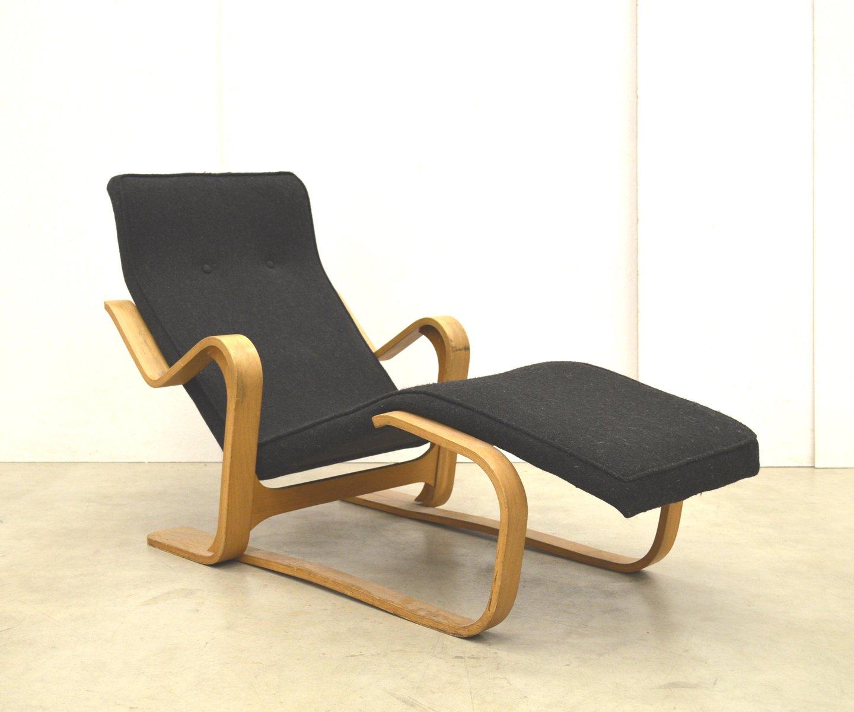 birch chaise longue by marcel breuer for isokon 1950s