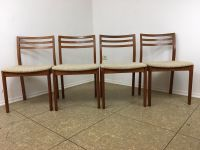 Mid-Century Teak Dining Chairs, Set of 4 for sale at Pamono