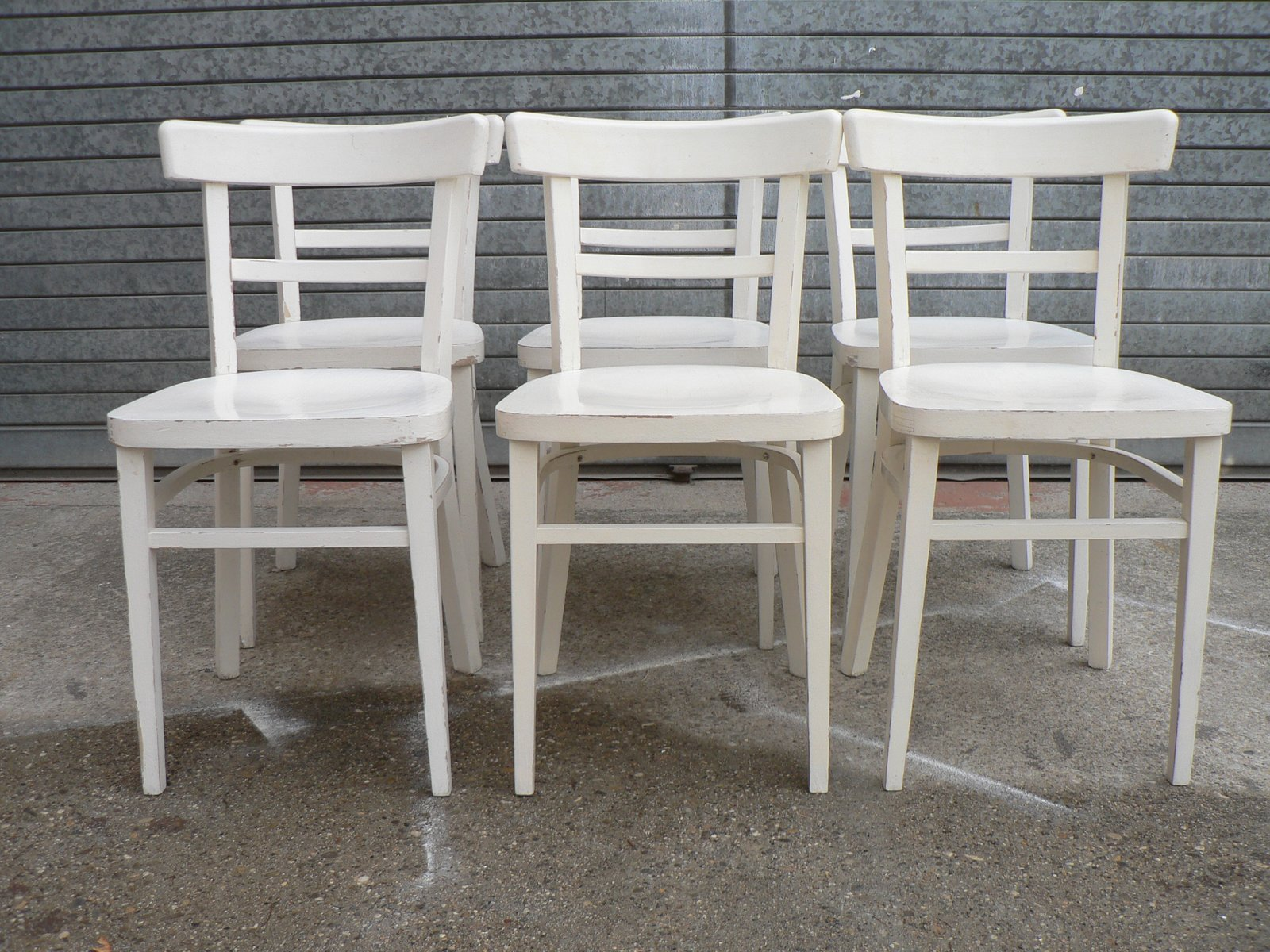 White Bistro Chairs Vintage White Bistro Chairs Set Of 6