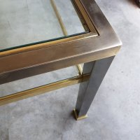 Brass and Glass Coffee Table, 1980s for sale at Pamono