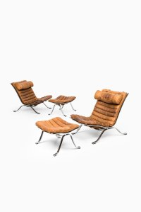 Mid-Century Ari Easy Chair & Ottoman by Arne Norell, Set ...