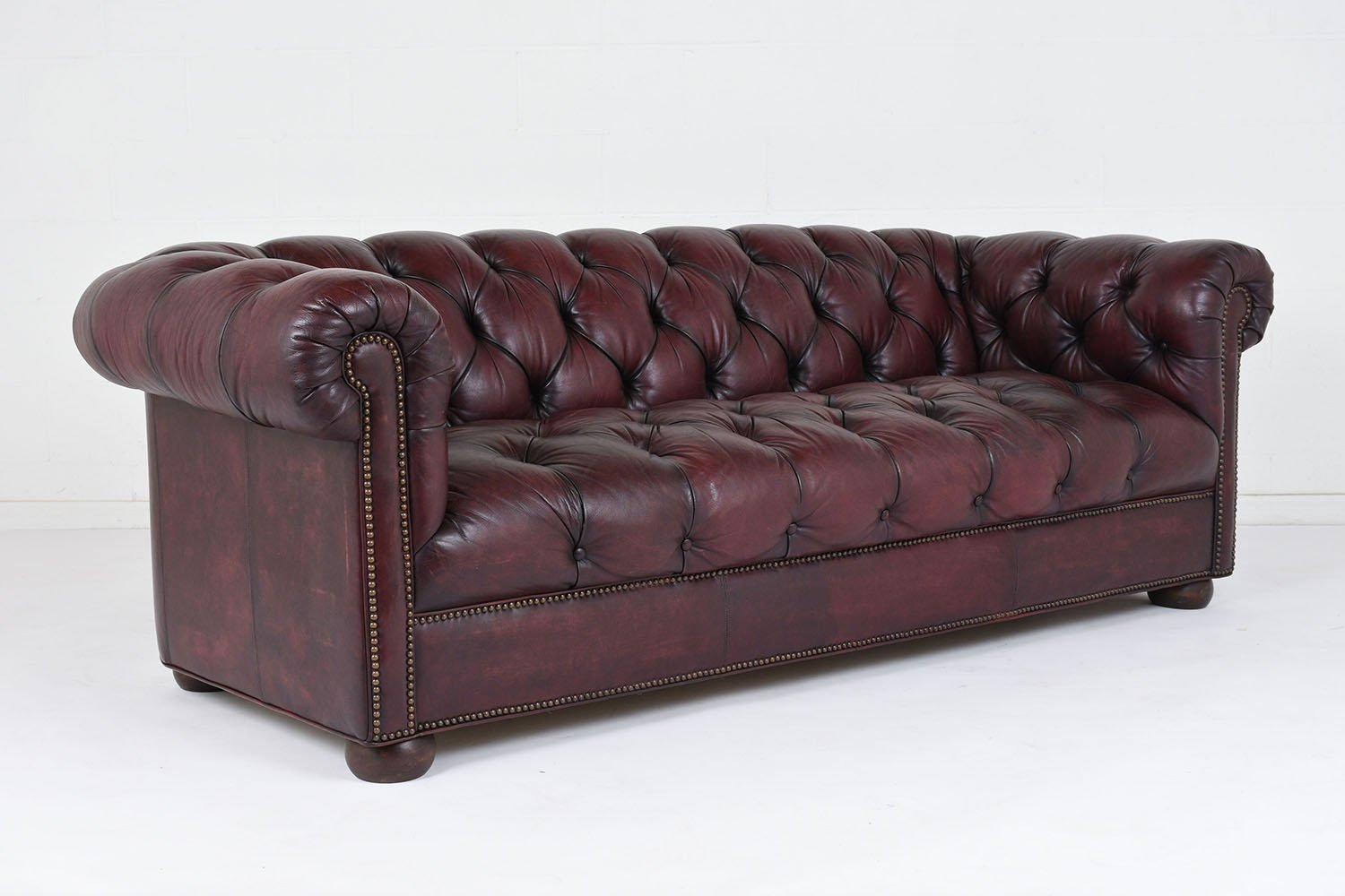 leather sectional sofa tufted c shaped set design vintage 1970s for sale at pamono