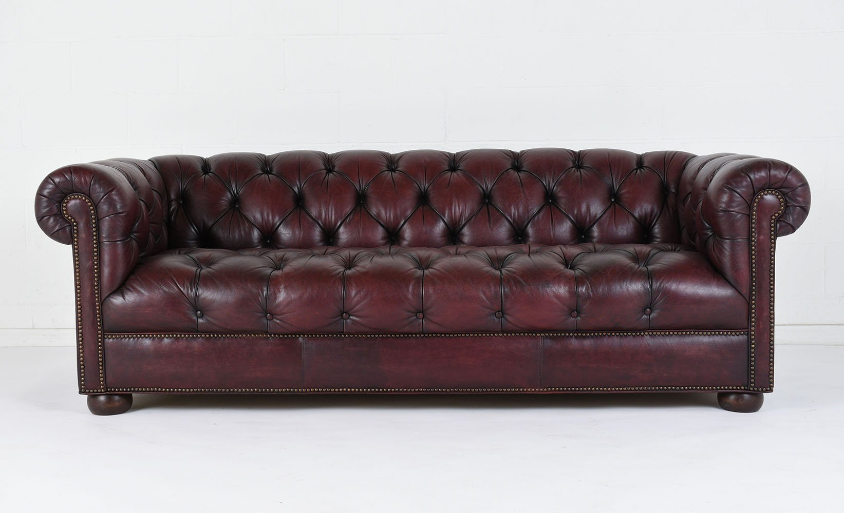 tufted leather sofa cheap sacha large bed madras chocolate vintage 1970s for sale at pamono