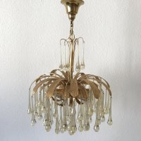6-Light Chandelier with Glass Drops from Palwa, 1970s for ...