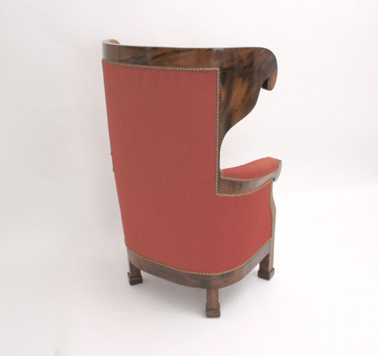 biedermeier sofa zu verkaufen grey fabric with chaise wiener ohrensessel 1820er bei pamono kaufen