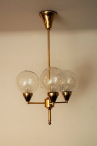Brass Ceiling Lamp, 1960s for sale at Pamono