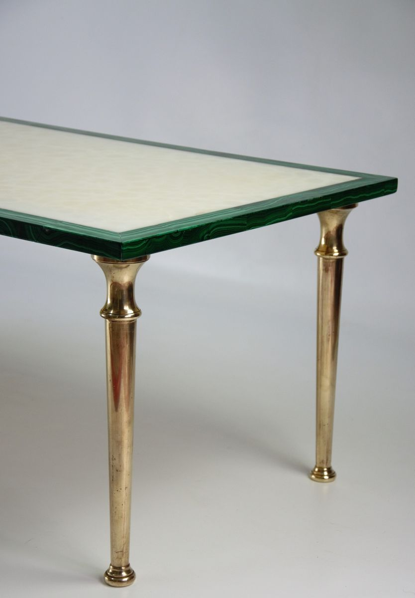 Alabaster and Malachite Coffee Table, 1970s for sale at Pamono