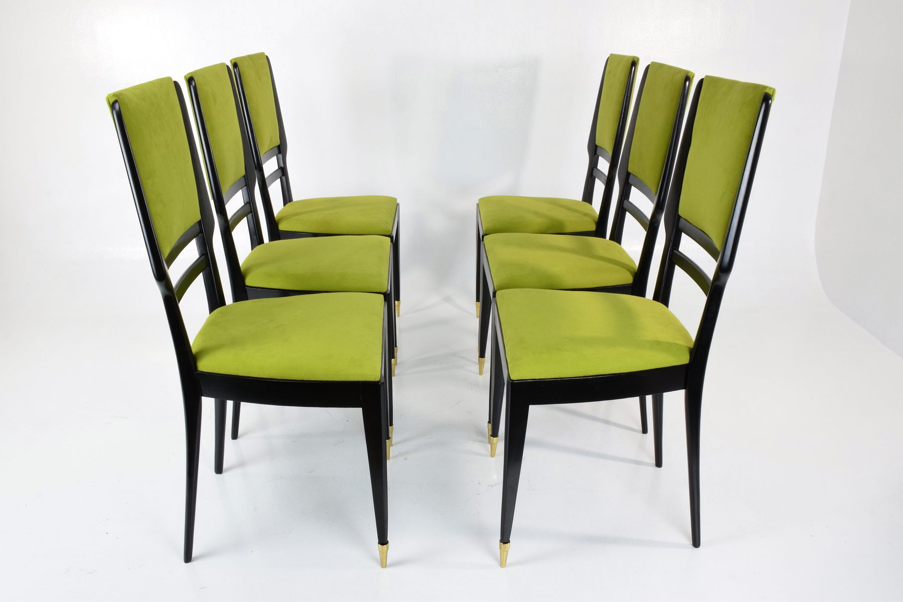 Dining Chairs Set Of 6 Italian Dining Chairs 1950s Set Of 6 For Sale At Pamono