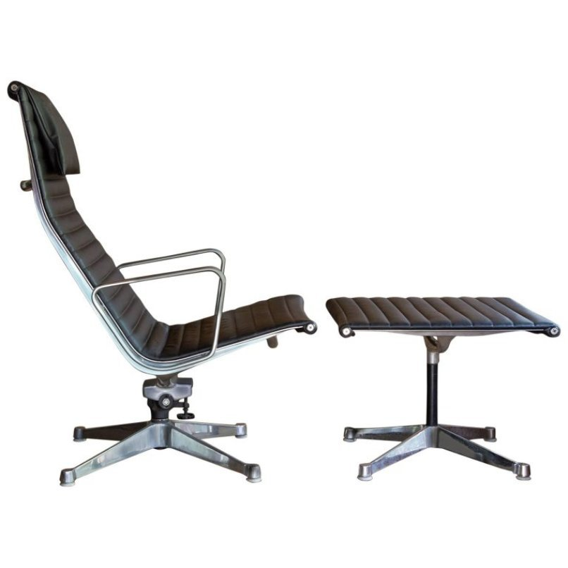 office chair ottoman baker palladian dining chairs set by ray charles eames for herman miller 1958 price per