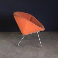 Orange Lounge Chair by Rudolf Wolf for Rohe Noordwolde ...