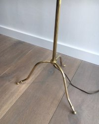 Brass Floor Lamp, 1940s for sale at Pamono